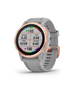 Fenix 6S Sapphire Rose Gold w/Gray Band South America en Garmin