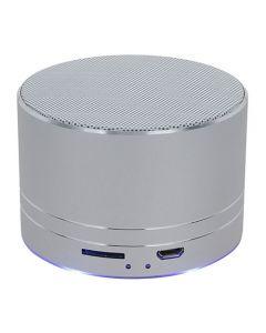 Parlante Bluetooth Introtech Mini Pro360 3w Con Luz Plateado