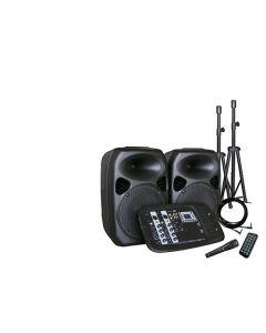 Kit Sonido Y Amplificación Hyundai Blast2x10 200w Negro