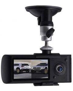 Cámara De Video Camtek R300 Dvr Hd Doble Auto Gps