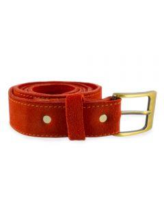 Cinturón Rupestre Cuero Reno Rojo S
