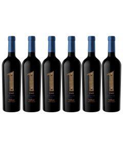 Pack 6 vino Uno Premium Red Blend