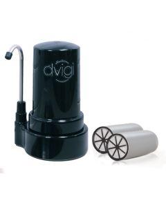 Filtro Purificador De Agua DVIGI Mini + 2 Filtros Negro