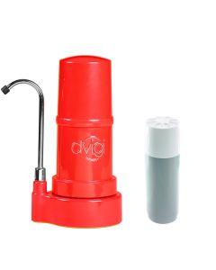 Filtro Purificador De Agua DVIGI Basic + 1 Repuesto Rojo