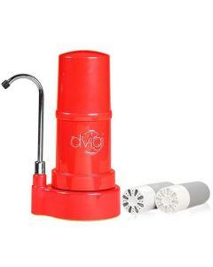 Purificador De Agua DVIGI Filtro + 2 repuestos Rojo