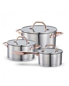 Batería De Cocina Copper Wens Acero 580 6 Piezas