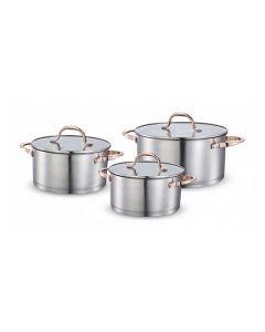Batería De Cocina Copper Plus Acero 580 6 Piezas