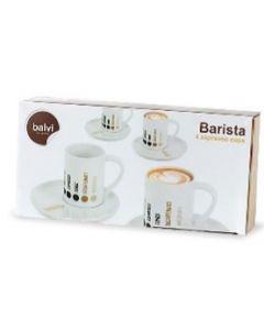 Taza Espresso Barista x 4 Ceramica Balvi