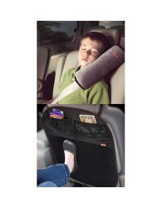 Pack Protector Respaldo de Asiento + Almohada Cinturón de Seguridad Diono
