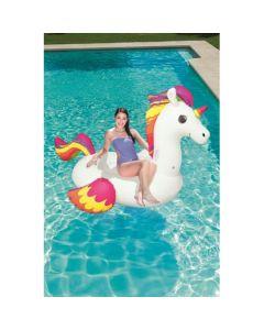 Flotador Inflable Unicornio Bestway Adulto 2.24x1.64m Blanco
