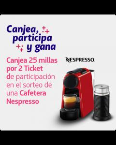 2 Ticket de Participacion Sorteo Cafetera Nespresso + Aero3