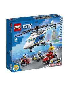Lego Policía: Persecución En Helicóptero