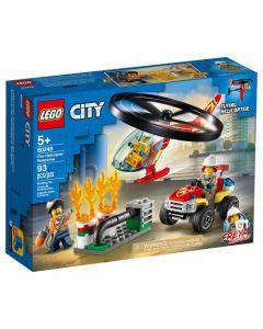 Lego Intervención Del Helicóptero De Bomberos