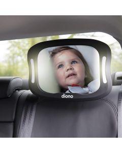 Espejo Retrovisor Xl Diono De Seguridad Para Bebé Luz Led