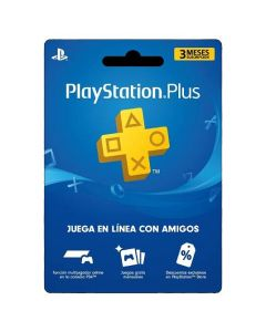 Gift Card Membresía 3 Meses en Playstation Plus