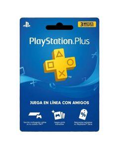 Gift Card Membresía 3 Meses en Playstation Plus