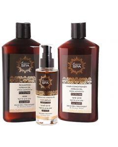 Pack Shampoo Argan Oil + Acondicionador + Serúm (Dry)