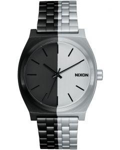 Reloj Análogo Nixon Time Teller Negro/Siver