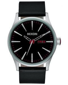 Reloj Análogo Sentry Leather Negro