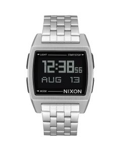 Reloj Digital Nixon Base All Plata/Negro