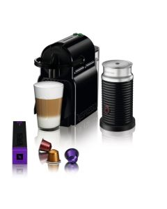 Cafetera Nespresso Inissia Black + Aero3