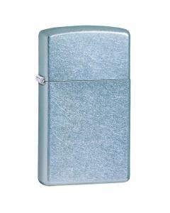 Encendedor Zippo Slim Street Chrome Azul