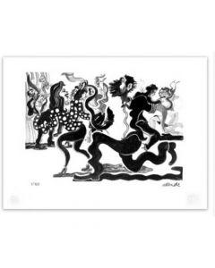 Fernando Allende Grabado Original Artefactory Litografía