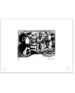 Fernando Allende Grabado Original Artefactory Aguafuerte