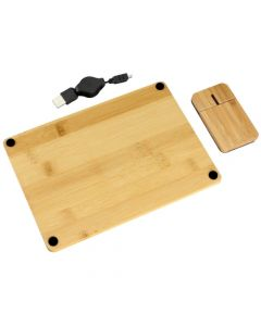 Set Mouse + Mouse Pad TecWood Bamboo B57