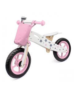Bicicleta Infantil de Madera Buppi Toys Classic Rosado