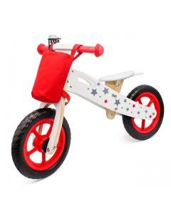 Bicicleta Infantil de Madera Buppi Toys Classic Rojo