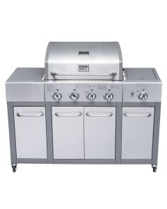Parrilla Buffalo 4Q Mueble BBQ Grill BBQ401GCQLM Inox