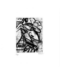 Bororo Grabado Original Artefactory Aguafuerte