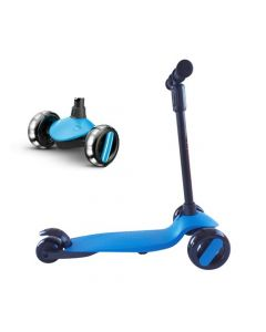 Scooter Plegable Led Buppi Toys Roll Azul