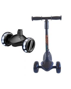 Scooter Plegable Led Buppi Toys Roll Negro