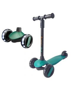 Scooter Plegable Led Buppi Toys Roll Verde Petróleo