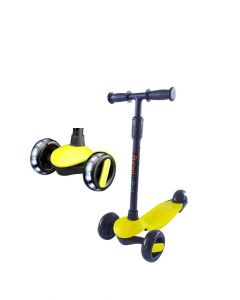 Scooter Plegable Led Buppi Toys Roll Amarillo