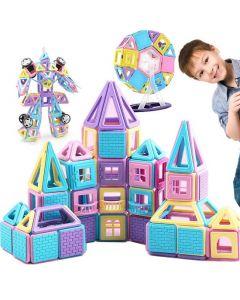 Castillo Magnético Educativo Buppi Toys 320 PCS Multicolor