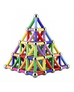 Kit Magnético de construcción Buppi Toys 150 PCS Multicolor
