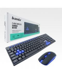 Teclado + Mouse Gamer Banda W400 Inalambrico