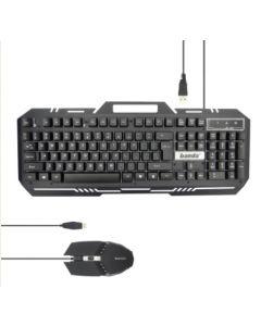 Teclado + Mouse Gamer Banda KM-77 Luz LED