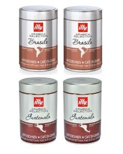 Café Grano Illy 2 x Brasil + 2 x Guatemala 250 gr