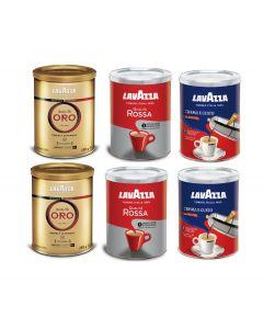 Café Molido Lavazza 2 Oro + 2 Rossa + 2 CremaEGusto 250 gr
