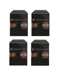 Chocolate Vergnano 60x Chocolate Negro 60 Sobres
