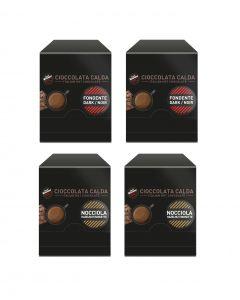 Chocolate Vergnano 30x Avellana + 30x Negro 60 Sobres