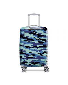 Funda De Maleta Cubritas Camuflaje Azul Talla G