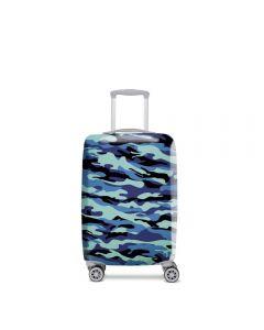 Funda De Maleta Cubritas Camuflaje Azul Talla M