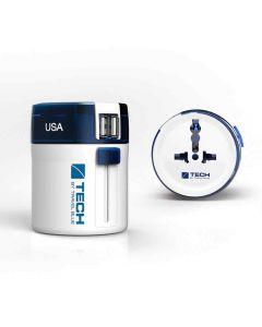 Adaptador Univ. Viaje Doble Usb Travel Blue TB-272 Multic