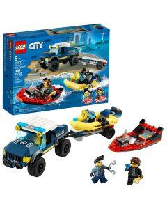 Policía De Élite: Transporte De La Lancha LEGO City