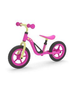 Bicicleta Aprendizaje Niños Chillafish Charlie Rosa Negra